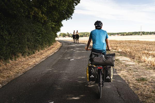 Cheval sur le parcours de la Véloscénie