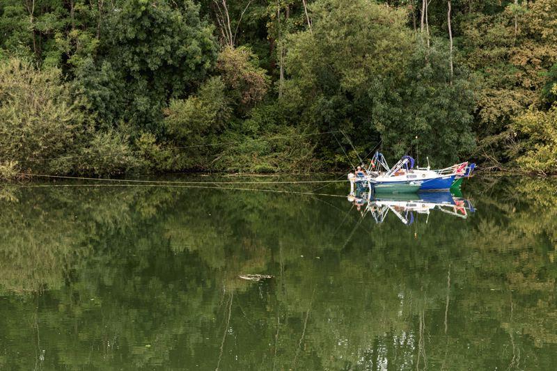 Bateau de pêche - Doubs - Voie Bleue