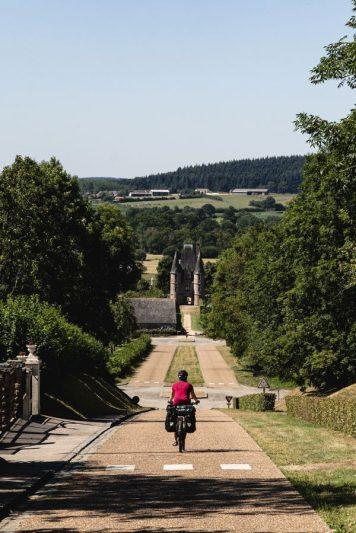 Vue sur le châtelet - Carrouges - Véloscénie