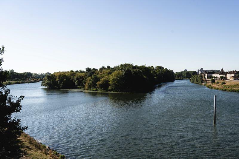 Confluence entre le Doubs et la Saône - la Voie Bleue