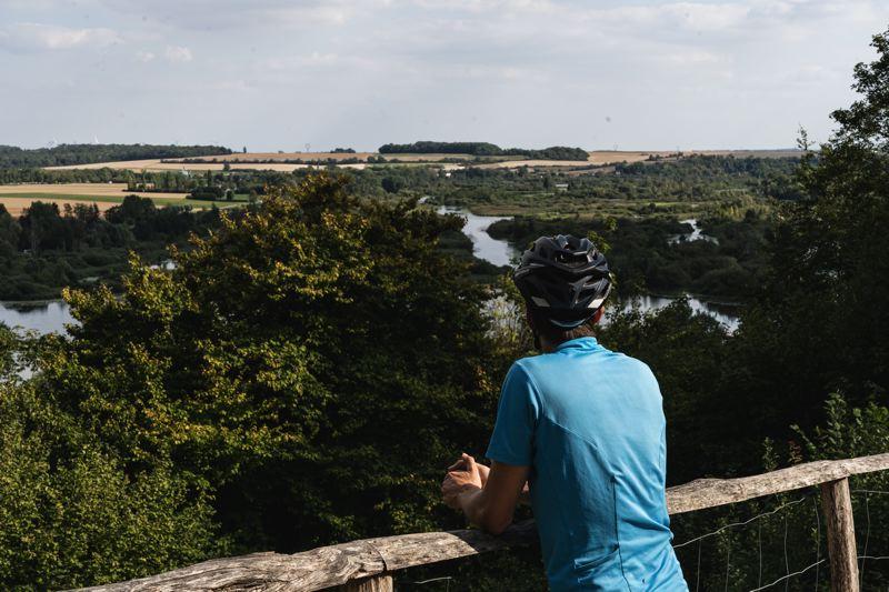 Le point de vue depuis le belvédère de Vaux, la V30