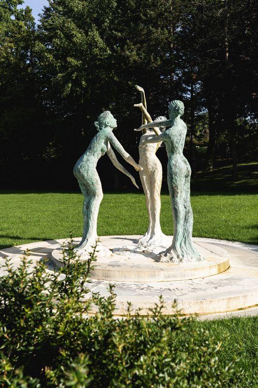 Statue des trois sources, Forges-les-Eaux - Avenue verte Londres-Paris