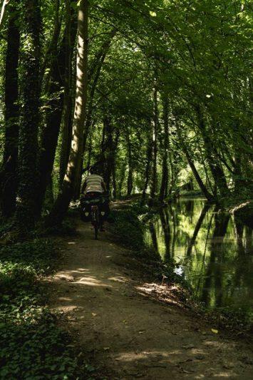La forêt autour le Plan d'eau du Canada - Beauvais - Avenue verte Londres Paris