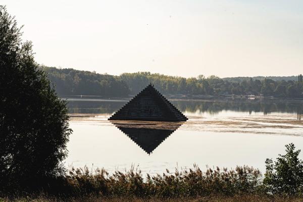 Lac de la base de loisirs de Cergy - Avenue verte