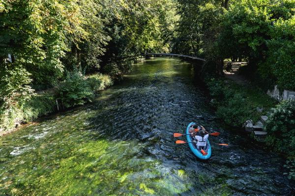 Canoe sur l'Epte, Avenue Verte Londres Paris