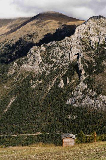 Vue du sommet de la station de ski Mercantour