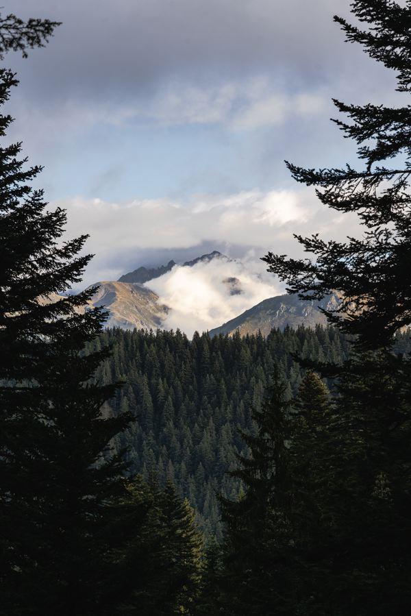 Vue sur le mont Argentera
