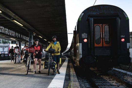 Arrivée à Paris : Train +vélo