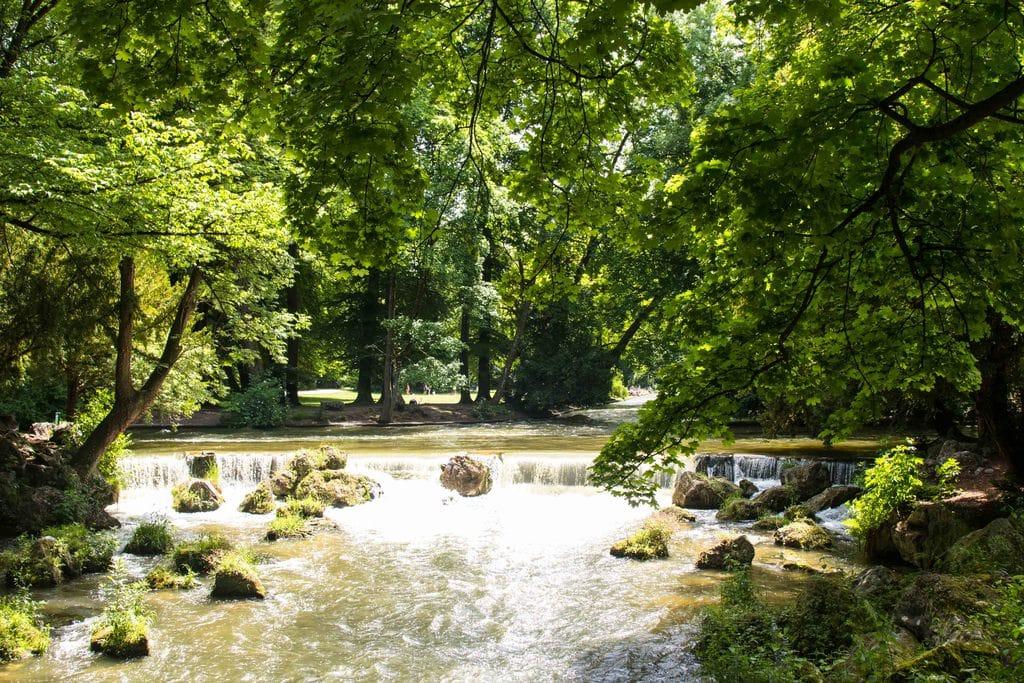 Le jardin anglais, Munich