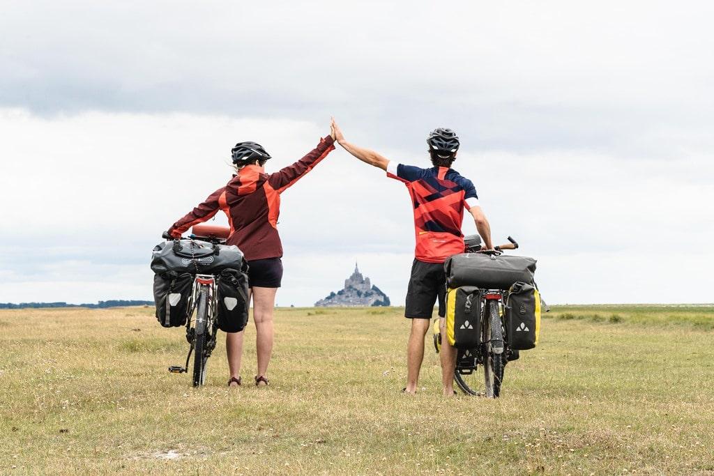 Voyage à vélo - sacoches Top case