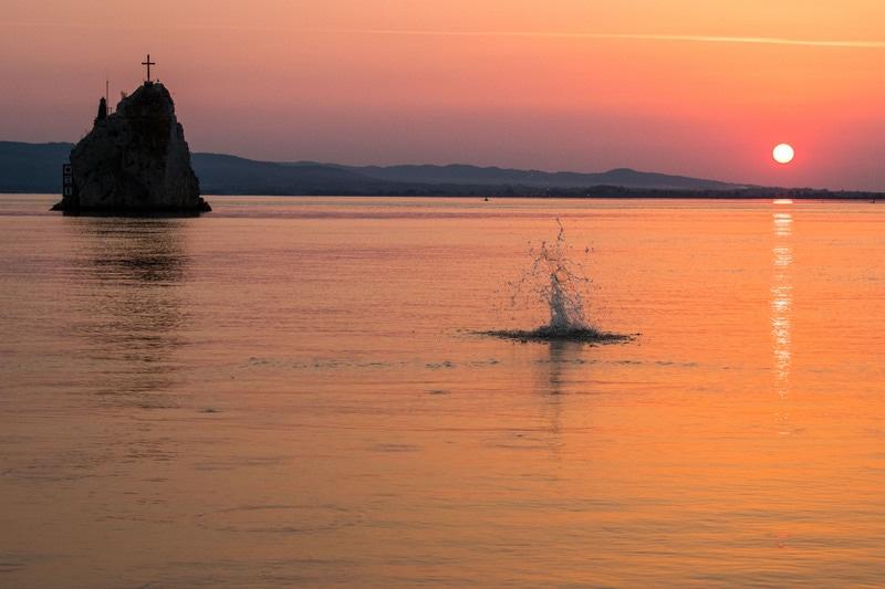 Coucher de soleil, Coronini - Danube - EuroVelo 6