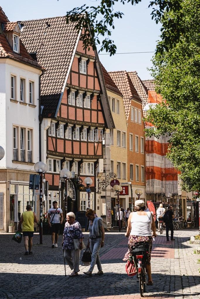 Onasbrück - ville colorée sur l'EuroVelo 3 en Allemagne