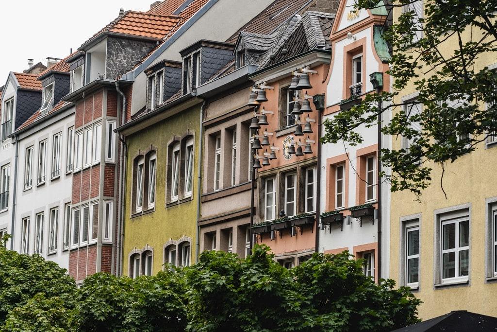 Centre-ville de Dusseldorf - EuroVelo 15