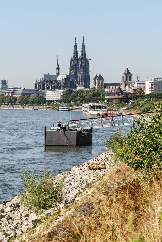 Entrée Cologne via EuroVelo 3 en Allemagne