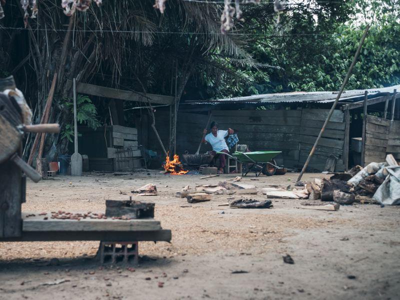 Arrêt sur le Rio Béni - Amazonie