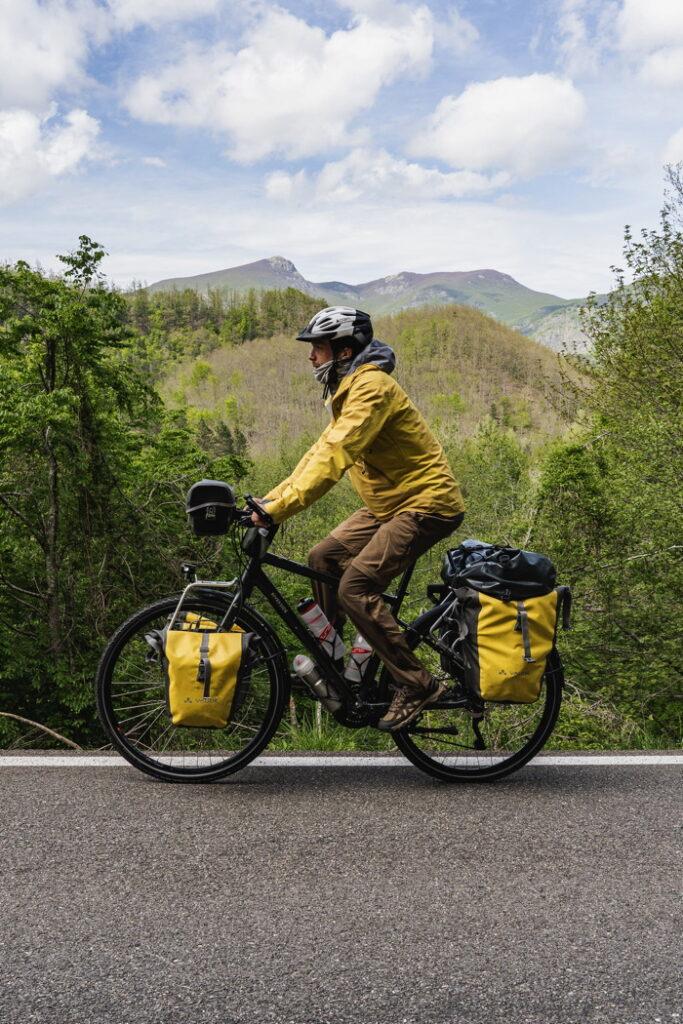 Descente - Passo del Bocco - Italie à vélo