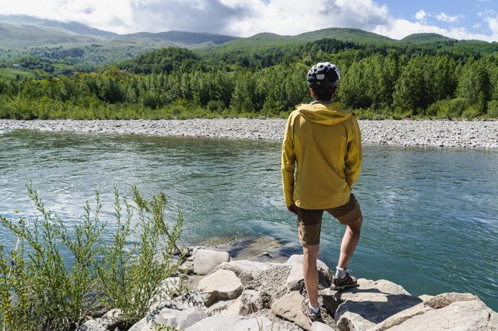 Rivière Taro - Italie à vélo